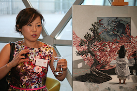 presenting my paintings and talking about my art process and the concept at the Pelvic Pain Foundation of Australia Adelaide Launch